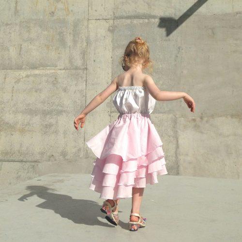 girls pink flamenco dress pure cute