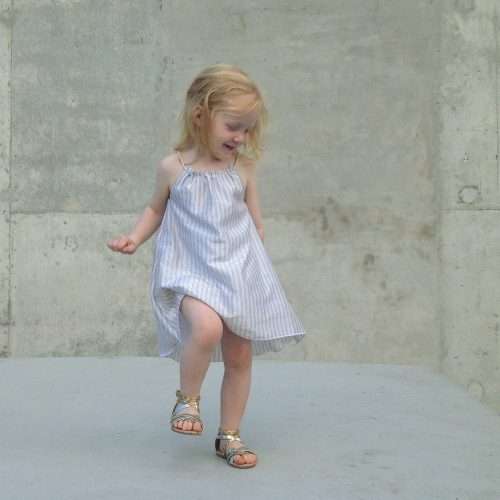 Girls Summer beach Dress - silver linings #makeforgood