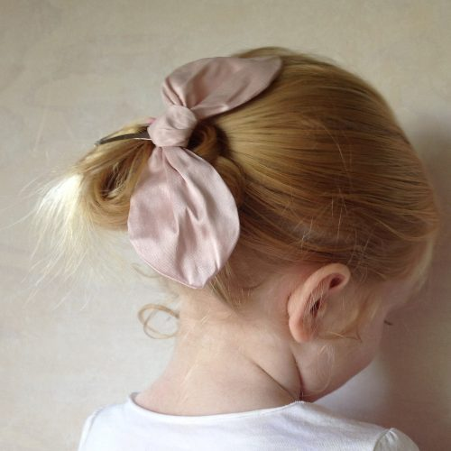 silk bow hair clips