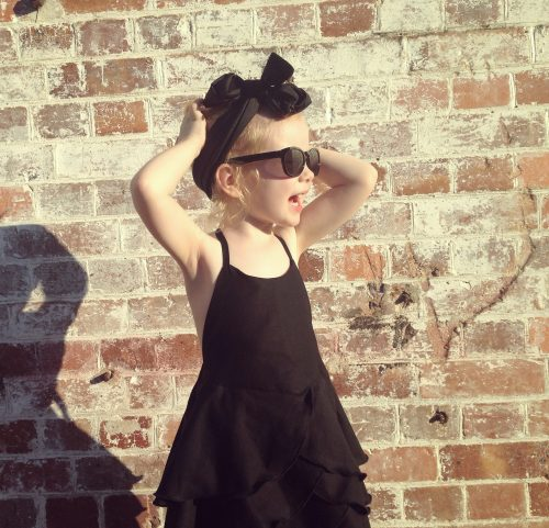Black Silk top knot head band