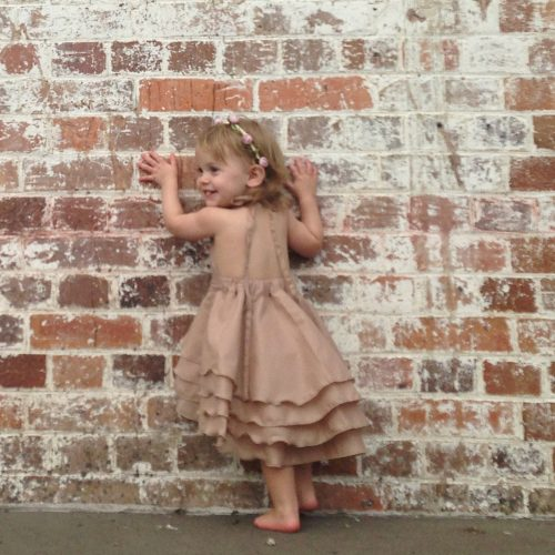 girls party flamenco dress