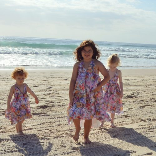 girls autumn beach dress
